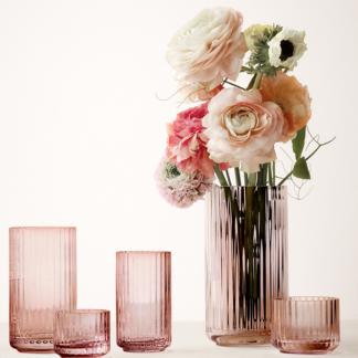 LYNGBY VASEN Lyngby Porzellan Glas burgundy mundgeblasen H 25,0 |20,5 | 15,5 cm