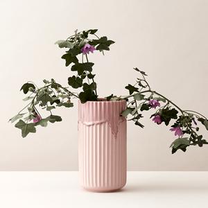 LYNGBY VASEN Lyngby Porzellan mit Laufglasur H 20 cm rosa