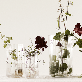 VASE Lyngby Porzellan Glas klar mundgeblasen H 38 | 20 | 15 cm