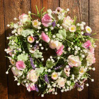 Blumenkranz Seidenblüten DAISY aus Rosen und Vicken ø 25 cm