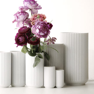 VASE LYNGBY Porzellan weiß  H 38 |25 | 20 | 15 | 10,5 cm