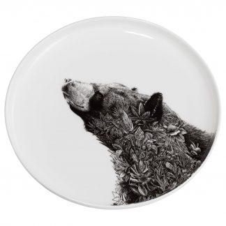 Teller ASIATIC BLACK BEAR Marini Ferlazzo Maxwell & Williams ø 20 cm