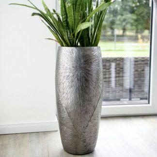 Bodenvase CARMEN silber H 107 cm