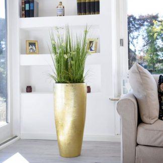 Bodenvase CECILE Hochglanz gold