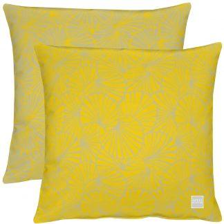 Outdoor Kissen Apelt 3961 gelb/weiß 46x46 cm