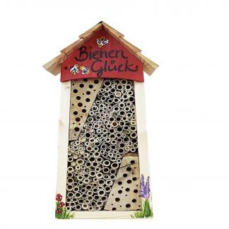 Bienen Hotel groß BIENEN Glück mit Lamellendach Vogelvilla H 34 cm
