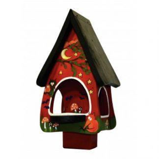 Vogelfutterhaus Futtervilla klein TIERE DES WALDES Vogelvilla H 45 cm