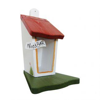 Eichhörnchen Futterhaus NUSSBAR weiß Vogelvilla H 30 cm
