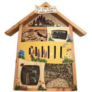 Insektenhotel Insektenquartier groß FÜR FLOTTE BIENEN & SÜSSE KÄFER Vogelvilla H 58 cm