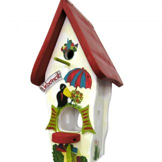 Kombiniertes Vogelhaus MINIVILLA 1 SUMMER IN THE CITY Vogelvilla H 50 cm