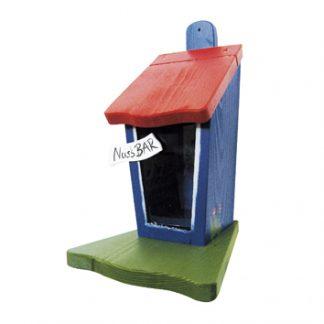 Eichhörnchen Futterhaus NUSSBAR blau Vogelvilla H 30 cm