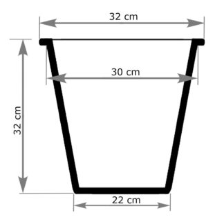 Pflanzeinsatz schwarz rund 32x32 cm