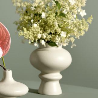 Vase KONTUR Kähler weiß H 23 cm