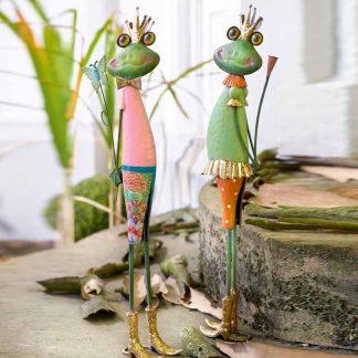 Figur Frosch HUGO & HANNA Metall H 58 cm