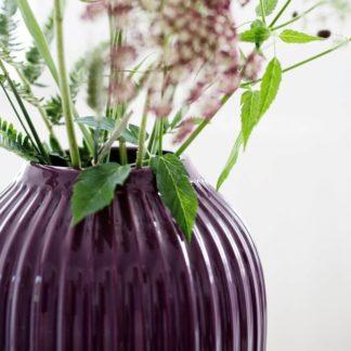 Kähler HAMMERSHOI Vase pflaume Höhe 10 cm