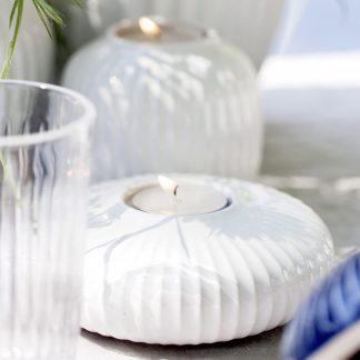 Teelichthalter HAMMERSHOI Kähler weiss ø 13 cm