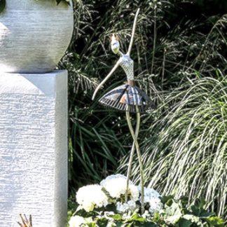 Gartenfigur Metall BALLERINA mit Krone H 116 cm