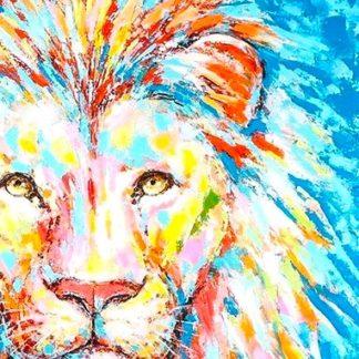 Bild Lion Casablanca Leinwand Auf Keilrahmen Hochgl Nzend 90x90 Cm 324x324