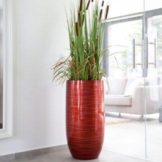Bodenvase CASSANDRA Hochglanz rot H 95 cm