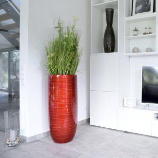 Bodenvase CASSANDRA Hochglanz schwarz H 95 cm