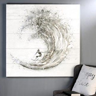 Bild SURFER Casablanca Leinwand auf Keilrahmen 100x100 cm