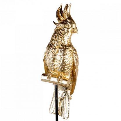 Deko-Vogel KAKADU Casablanca gold H 41 cm