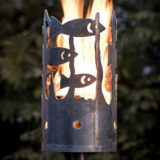 Gartenfackel FISCHE H 30 cm - ohne Stiel