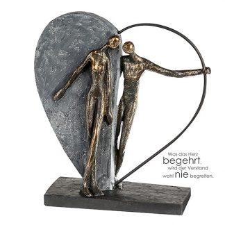 Skulptur HERZKLOPFEN Casablanca H 31 cm
