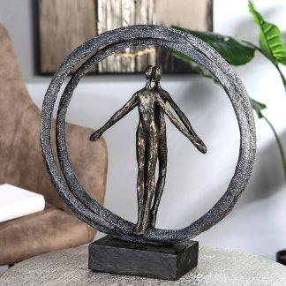 Skulptur PAAR IM RING Casablanca H 40 cm