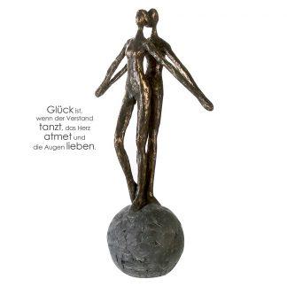 Skulptur ENCOURAGE Casablanca Paar auf Kugel H 37 cm