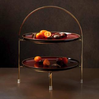 Etagere gold ASA für Dessertteller H 28 cm