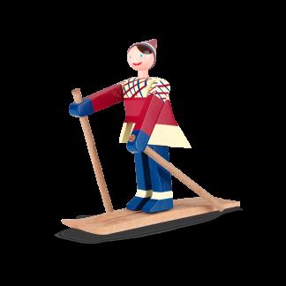 Skiläuferin DATTI Kay Bojesen H 15 cm