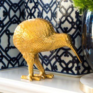 Dekofigur GOTHAM Kiwi GiftCompany gold H 15 cm