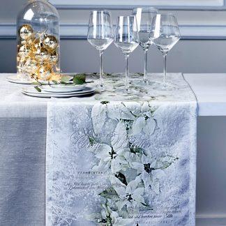Tischläufer Apelt 2600 CHRISTMAS ELEGANCE weiss 40x140 cm