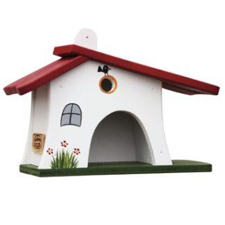 Vogelhaus WALDSCHÄNKE weiß Vogelvilla H 30 cm