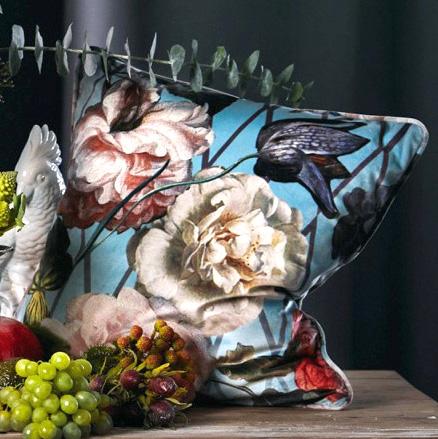 Kissenhülle Apelt SIBYLLA mit Keder bleu 46x46 cm