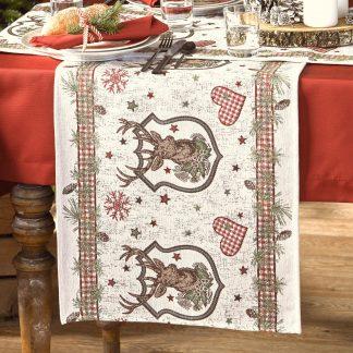 Tischläufer Apelt 1532 Winterwelt 44x140 cm