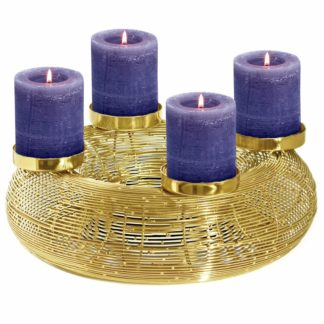 Adventskranz gold NILS Edzard ø 32 cm