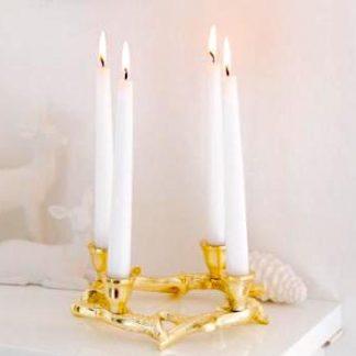 Kerzenständer KINGSTON Edzard gold ø 21 cm