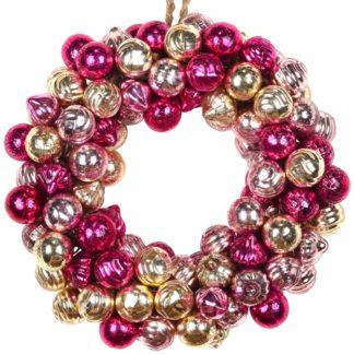 Adventstürkranz | Türkranz Weihnachten GiftCompany rosa/lila/gold ø 25 cm