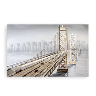 "3D Bild ""BRIDGE"" Casablanca Leinwand auf Keilrahmen 100x150 cm"