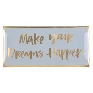 "Glasteller ""DREAMS HAPPEN"" GiftCompany 10,0x0,8x21 cm"
