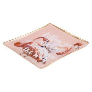 Glasteller Flamingo Giftcompany 100x08x100 Cm 1 324x324