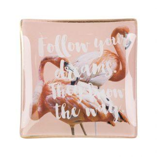 Glasteller Flamingo Giftcompany 100x08x100 Cm 324x324