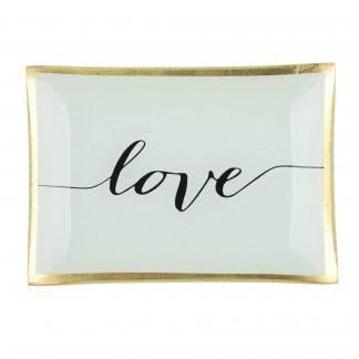 "Glasteller ""LOVE"" GiftCompany 10,0x14,2 cm"