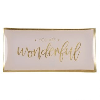 "Glasteller ""YOU`RE WONDERFUL"" GiftCompany 10,0x0,8x21 cm"