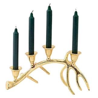 Kerzenständer | Kerzenhalter Adventskranz KINGSTON Edzard gold Höhe 18 cm