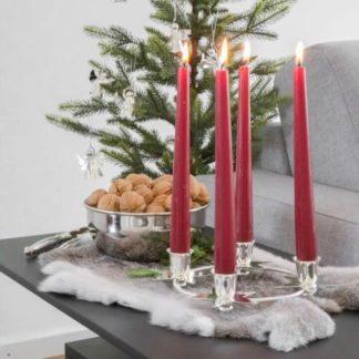 Kerzenständer | Kerzenhalter Adventskranz silber STERNE Edzard ø 19 cm