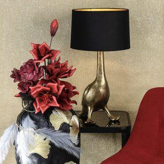 lampe-ente-gold-mit-antikfinish-casablanca-design-h-62-cm