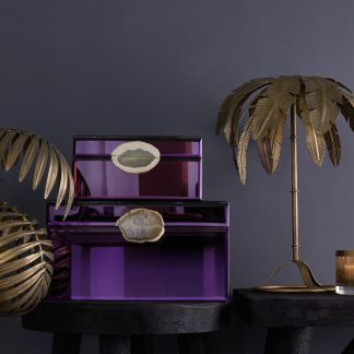 Schmuckkästchen Spiegelbox MIROIR GiftCompany Lack lila B 30 | 21 cm